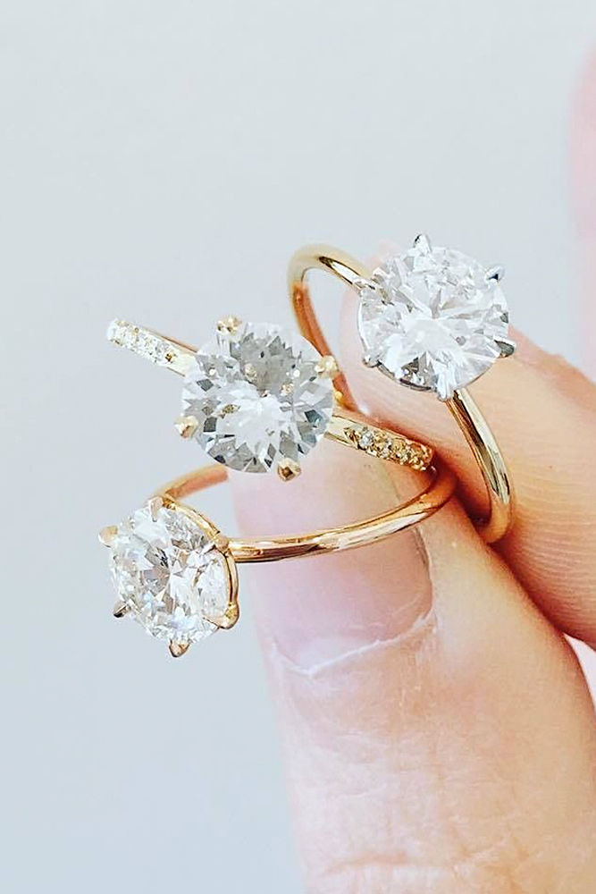 gallery for engagement wedding pairing matching tips your oval rings stone different with blog three a invisible band ring