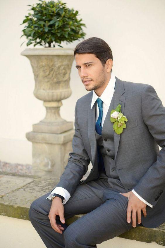 Grey Suit For Wedding - Wedding Photography