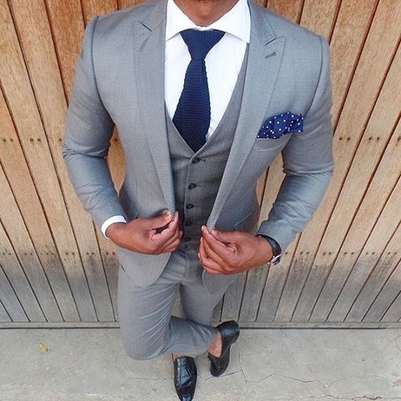 Wedding Hairstyle For Man: 9 Popular Grey Suit Wedding Combos