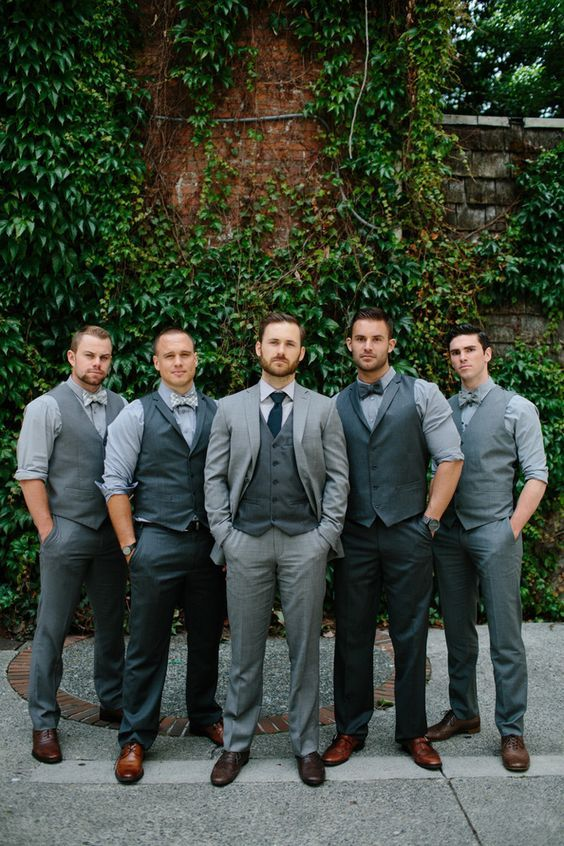 9 Popular Grey Suit Wedding Combos Mens Wedding Style