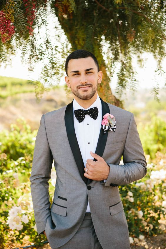 Grey Tux Wedding Suit