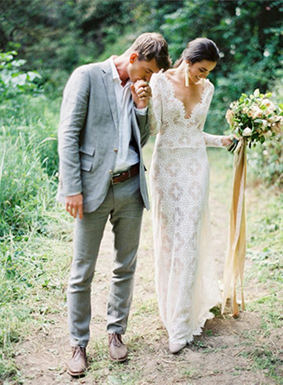 Boho Groom Wedding Styles 1