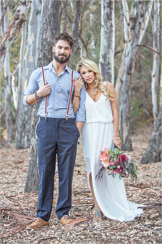 Boho Groom Wedding Styles 11