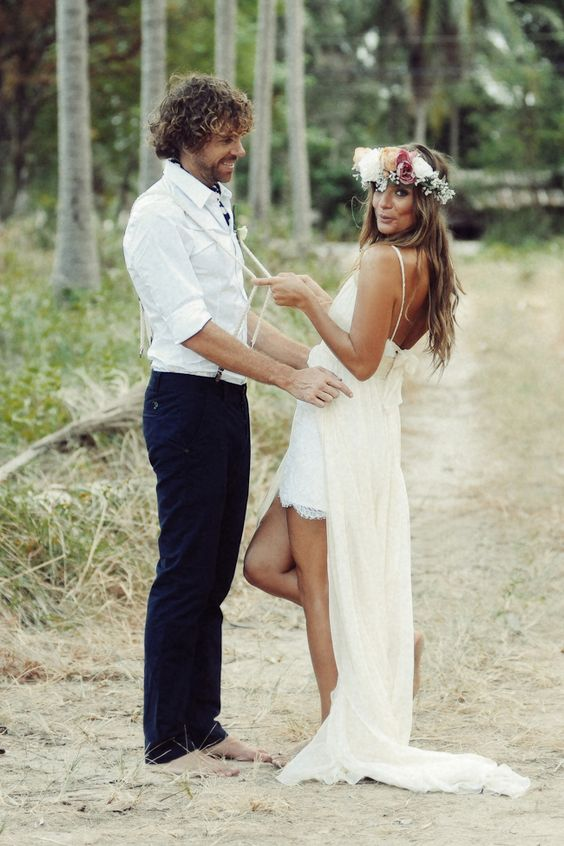 Boho Groom Wedding Styles 13