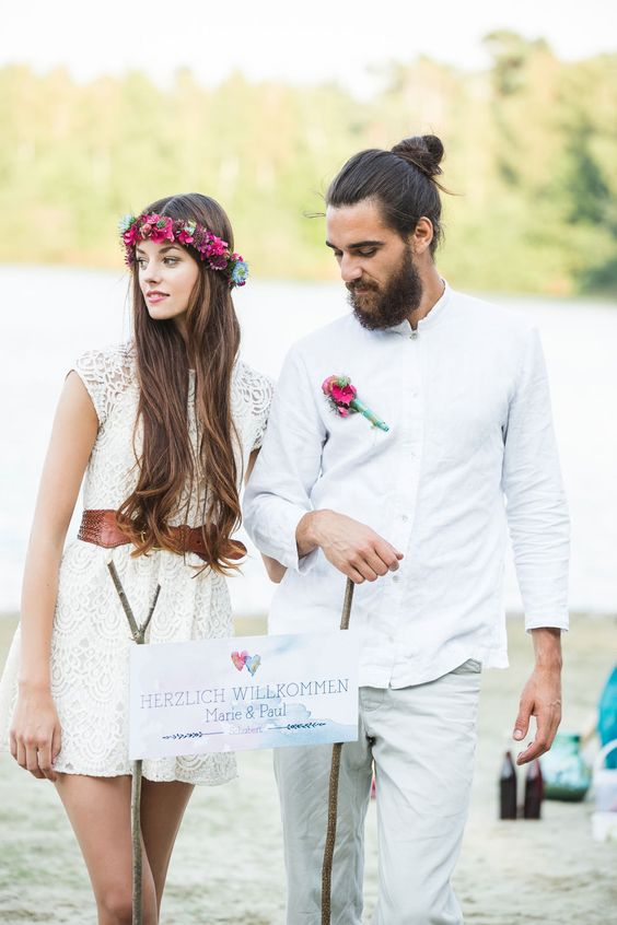 Boho Groom Wedding Styles 14
