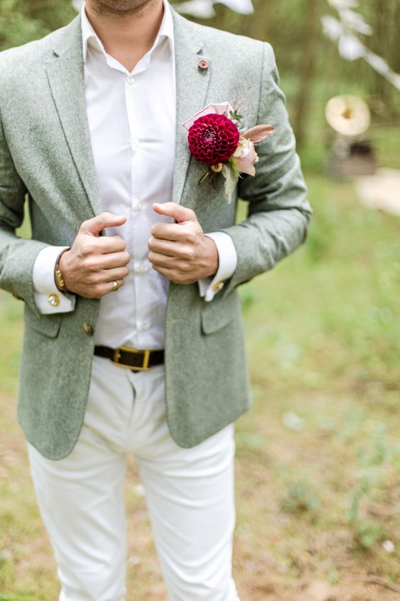 Boho Groom Wedding Styles 3