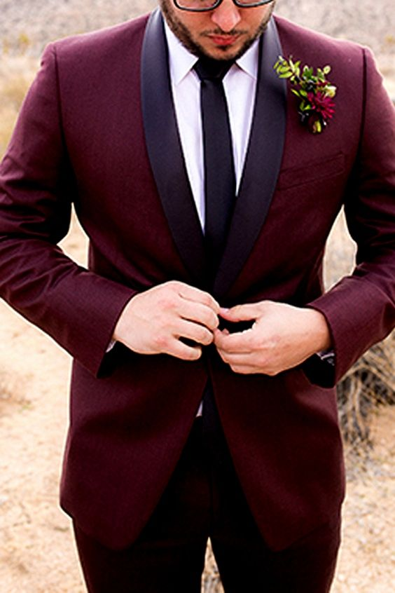 11 Burgundy Suits for your Wedding - Mens Wedding Style