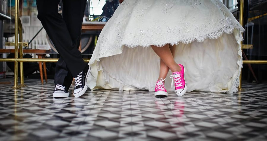 Wedding Converse Trainers