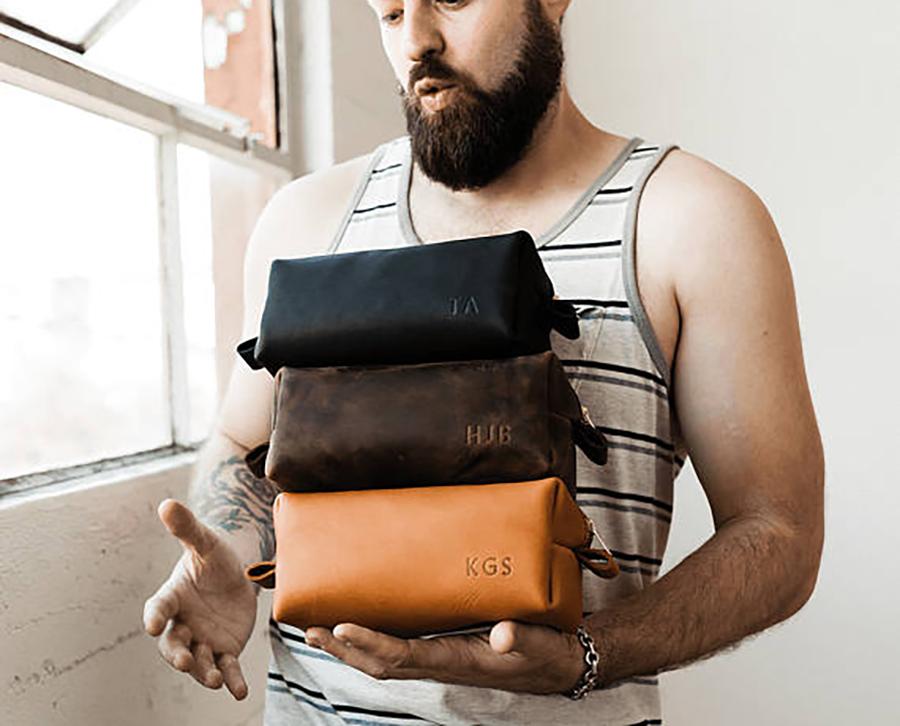 Groomsmen Gift Leather Toiletry Bag