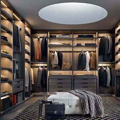 A Walk In Wardrobe Is Luxury For Any Gentleman The Perfect Place To Hang Your Suit And Get Ready Morning Drawer Full Of Watches Shelves