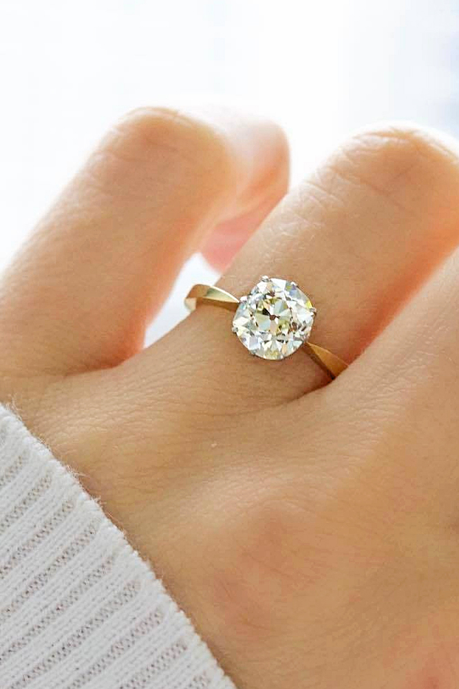Antique-Cushion-Cut-Engagement-Ring
