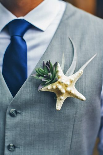 Beach Boutonnieres groom