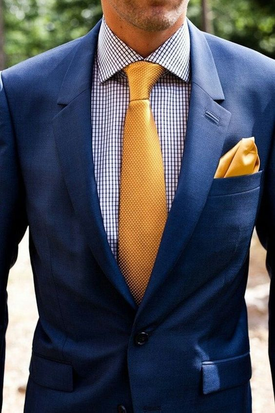 Blue and Gold Suit