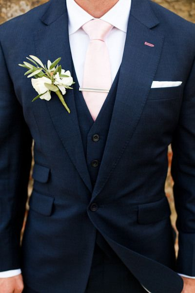Dark navy and pink tie