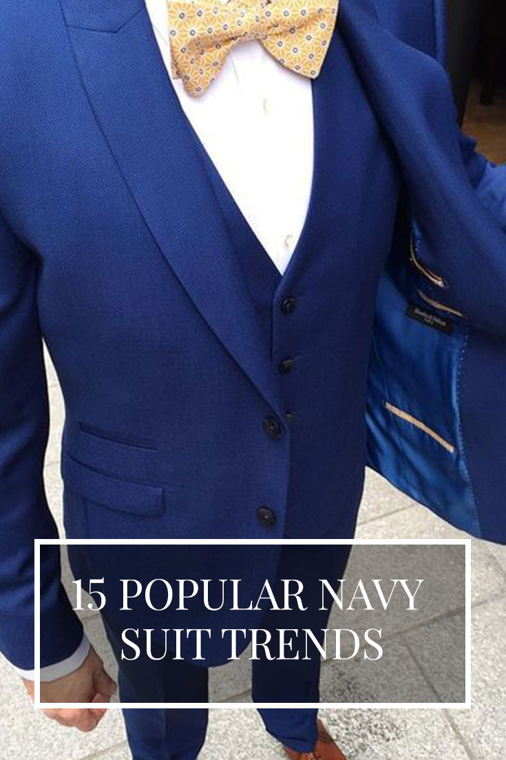 Navy Blue Suit Trends