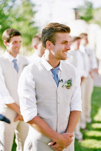 beach groom wedding