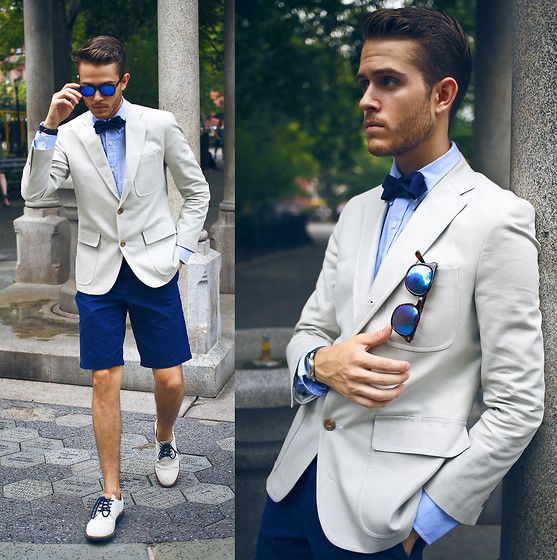 blue shorts groom
