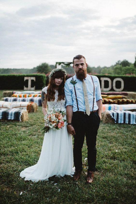 Boho Groom Wedding Styles 5