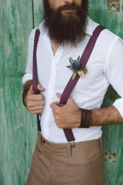 Boho Groom Wedding Styles 6