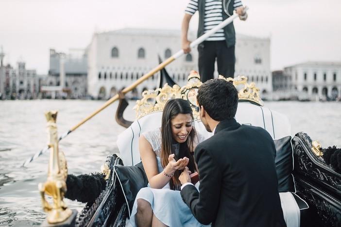 Venice Gondola Surprise Proposal