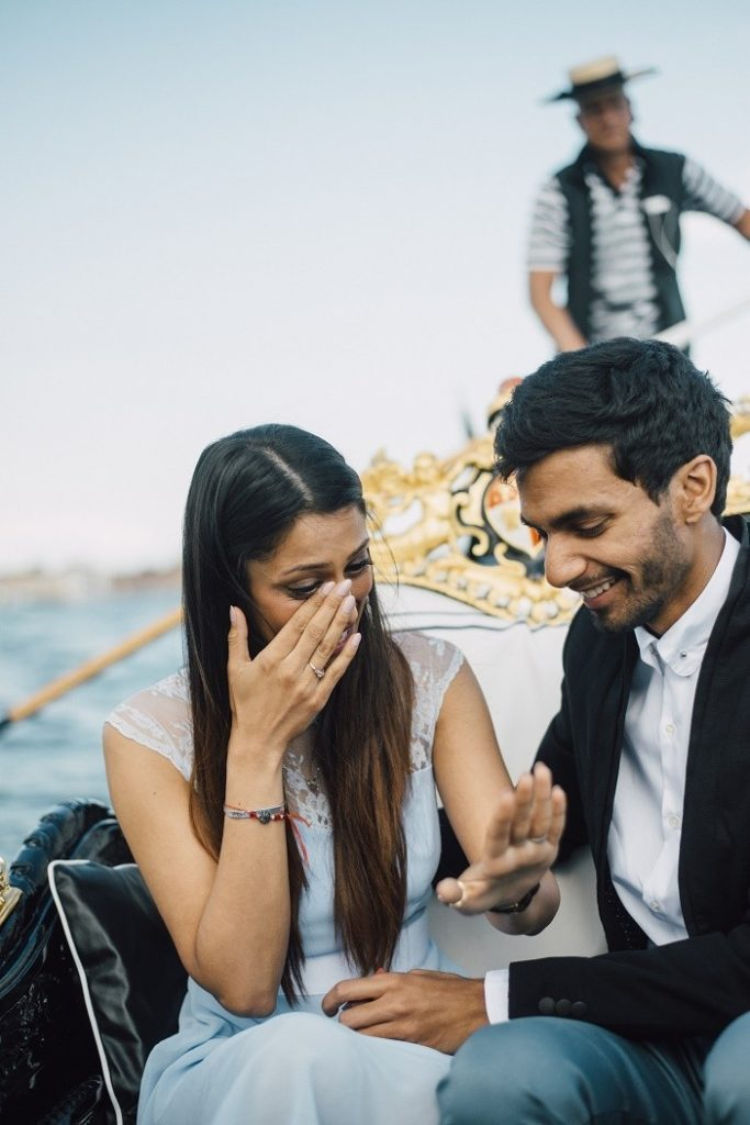 Venice Gondola Surprise Proposal