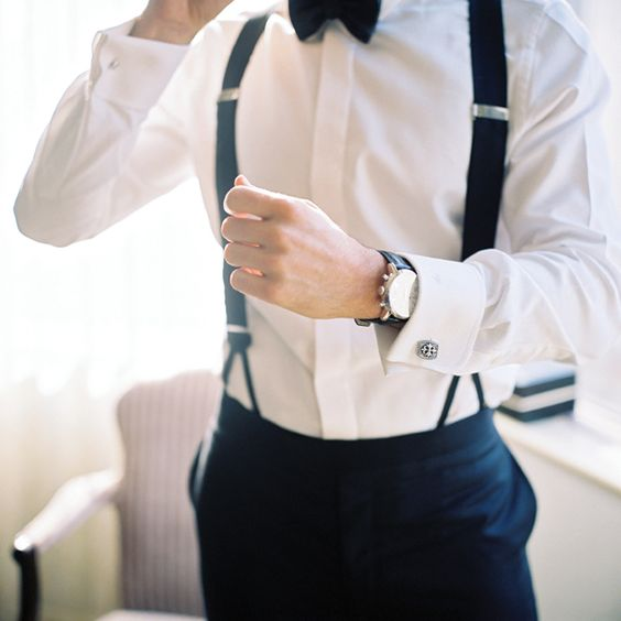 Groom Suspenders