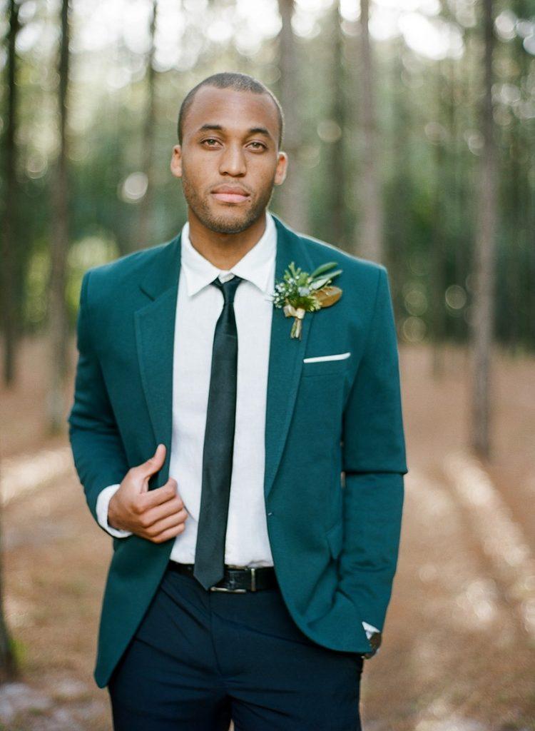 Emerald Green Grooms Attire