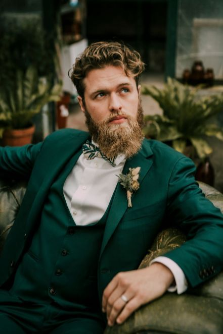 Green Suit for Groom