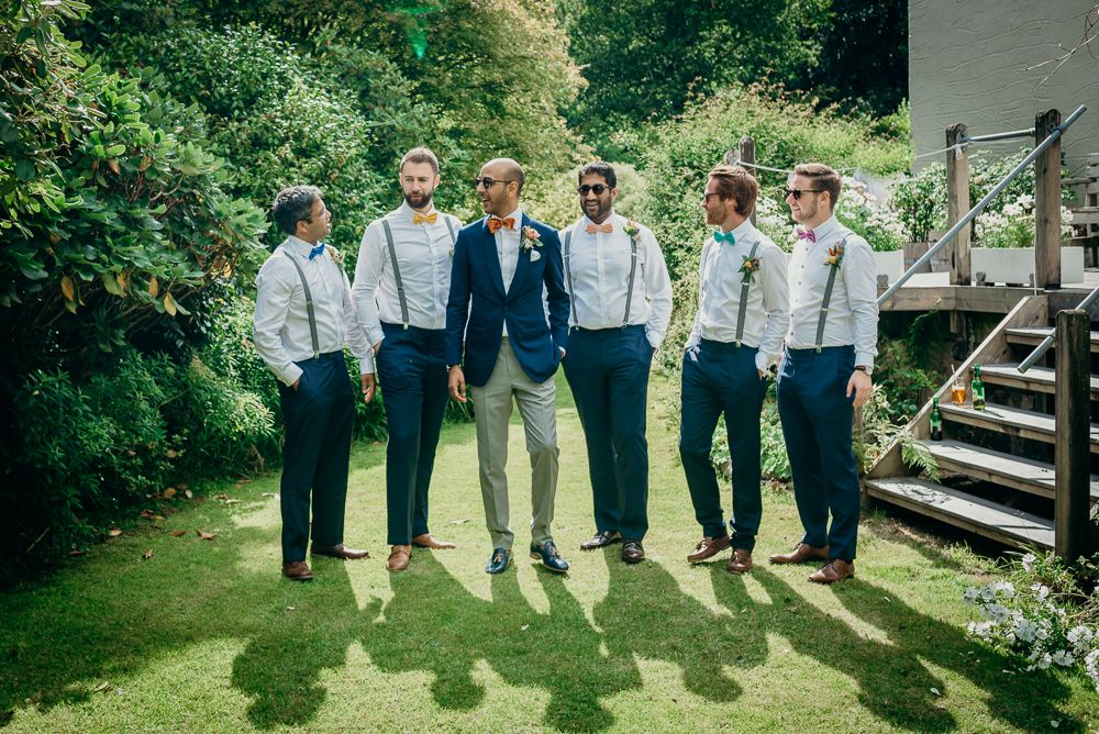 Groomsmen with no Jackets on