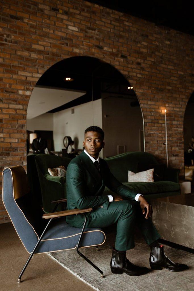 Smart Green Suit for Groom