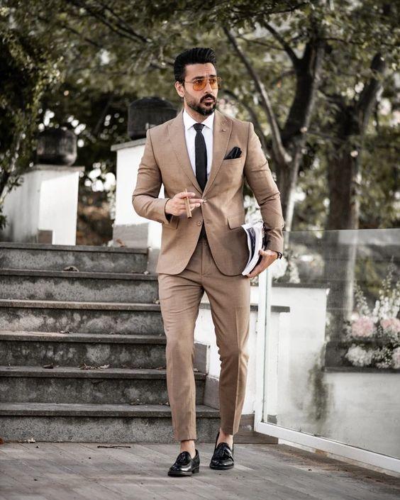 Tan Suit